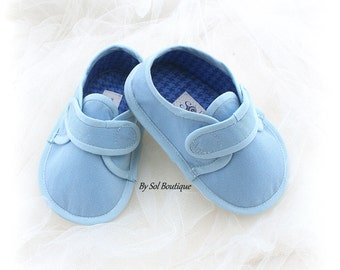 Baby Boy Shoes, Blue, Light Blue,Toddler Shoes, Baby Loafers,Boy Slippers,Booties,Baby Shower,Family Portrait,Gift for Baby,Canvas Shoes