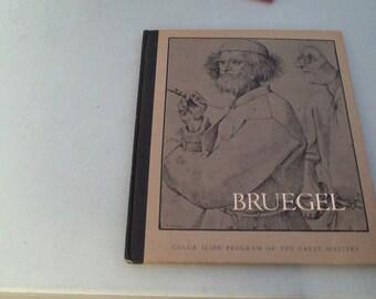 1970 Artist Peter Bruegel Book with 20 Slides
