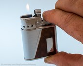 Working 1950s Ronson Whirlwind Art Deco Pocket Lighter With Disappearing Windguard