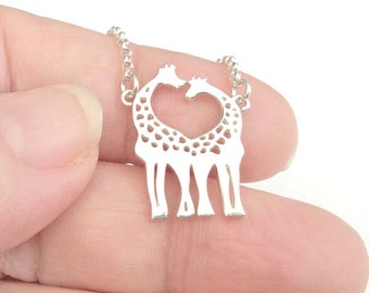 Giraffe Lovers - Sterling Silver Giraffe Pendant Silver Jewelry