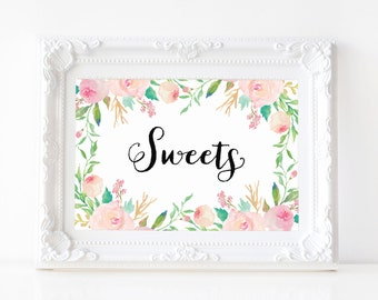 """Instant Download - Spring Shower Sweets Print - 5""""x7"""""""