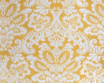 Yellow and White Damask  Bed Runner/Bed Scarf