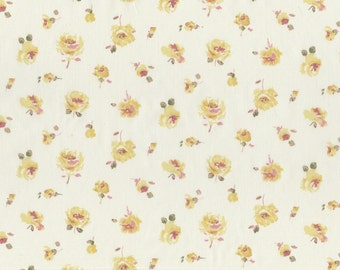 Fat eighth Rosa G, delicate rose Liberty of London, primrose yellow floral Liberty print