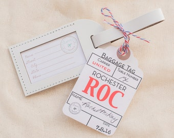 Wedding Favors - Airport Code Escort Card - Write in your Own Large Favor Tag