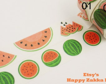 Watermelon - Japanese Washi Masking Tape - 11 Yards - 2 for choice