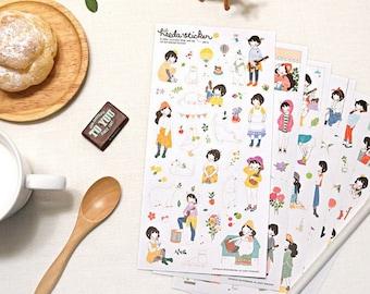 Translucent Sticker Set - Heeta Sticker - Ver. 2 - 6 Sheets