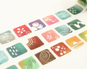 Nature - Japanese Washi Masking Tape - 5.5 Yards