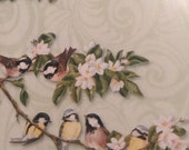 Vintage wrapping paper perched birds gift wrap 2 sheets 20/29""