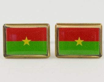 Burkina Faso Flag Cufflinks