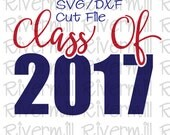 SVG DXF Class of 2017 Cut File