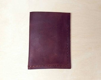 Leather Wallet (Medium brown leather, hand-stitched)