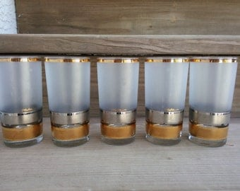 Vintage Culver Regency Pattern, 12 oz Tumblers, Water Glasses, Beverage Glass, Glassware, Barware