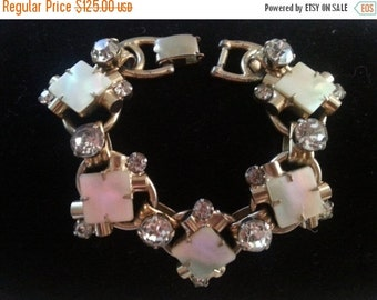 Now On Sale Vintage Rhinestone Juliana Bracelet ** 1960's D and E Delizza and Elster 5 link Collectible Jewelry ** Designer Jewelry