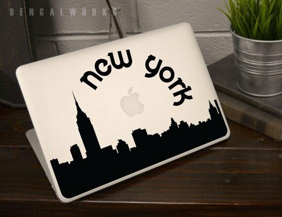 New York Skyline Macbook Decal 2 | Macbook Sticker | Laptop Decal | Laptop Sticker | Car Sticker