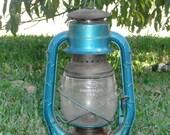 Dietz No. 2 D-Lite Kerosene Lantern - 1950's Blue