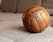 Antique soccer ball - 10 panels - genuine leather - WEMBLEY - 1924