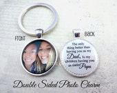 Personalized Papa Key Chain - Double Sided Custom Photo Dad Keychain - The Only Thing Better - Grandpa Father's Day Gift Photo Keepsake