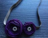 ribbon flower hairband