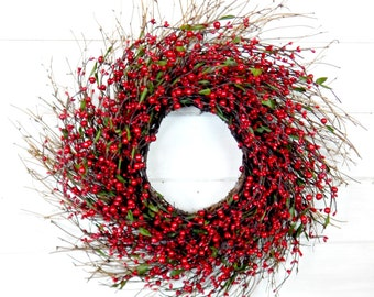 Valentines Day Wreath-Valentine Wreath-Valentines Decor-RED Wreath-Twig Wreath-Holiday Wreath-Gift for Mom-Door Wreath-Home Decor-Gifts
