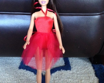 Handmade Ballet Outfit for Barbie - Red