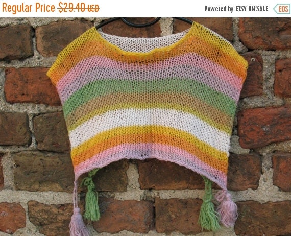 SALE Childrens Clothing Kids Wool Poncho Children Sweater size 5 to 11y, Kids Poncho, Spring Clothing Children Spring Clothing