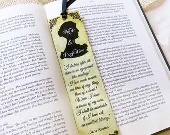 Jane Austen Bookmark-Pride and Prejudice bookmark-Quote bookmark-Custom Bookmark-Literary bookmark-book lovers gift-by Natura Picta-BKMK003