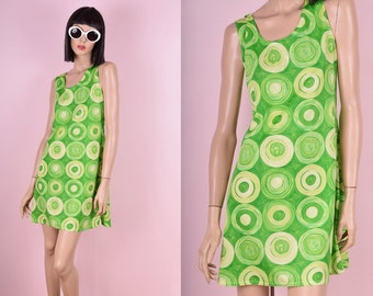 90s Does 60s Green Mini Dress