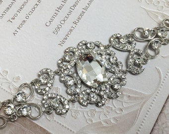 Bridal bracelet, Wedding jewelry,Wedding bracelet, bridal jewelry, bridesmaid bracelet, rhinestone bracelet, crystal bracelet