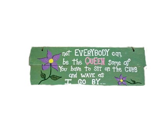 Handmade  wood sign |  Queen Custom wood sign |  gift for women | custom wood sign | hand painted wood sign | custom gift for women | rustic