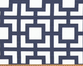 Navy curtains Gigi Curtain Panels, Drapes 24W or 50W x 63, 84, 90, 96 or 108L Premier Prints