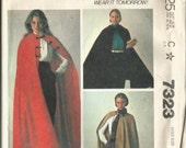 Uncut McCall's 7323 Cape or Cloak Pattern Sizes 14, 16