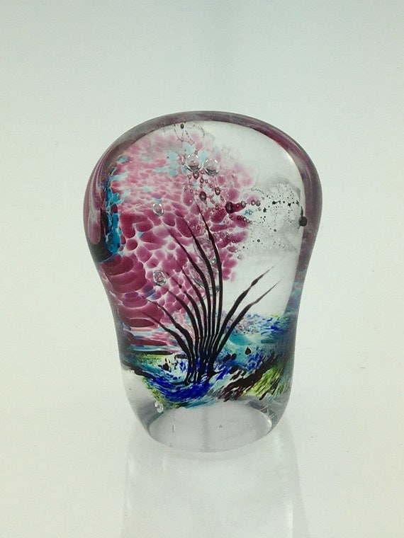Glass Paperweight  - Free Form Seascape - by Jonathan Winfisky