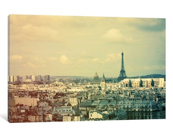 iCanvas Pale Paris Gallery Wrapped Canvas Art Print by Alicia Bock