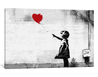 iCanvas Girl with a Balloon Gallery Wrapped Canvas Art Print by Banksy