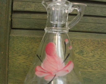 Hand Painted Cruet Bottle with stopper