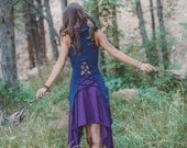 Cowl Top with Lace up Back ~ no sleeves ~ Elven Forest, Gypsy clothing, Festival clothing, Goa Love