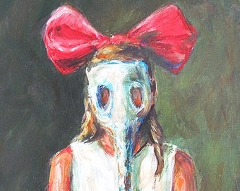 Sweetbreath print of a girl in a gas mask