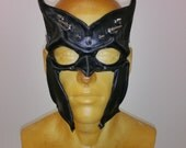 RESERVED:  The Eagle Black Leather Mask with SPIKES