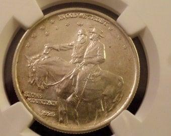 1925 Stone Mountain Memorial Commemorative Silver Half Dollar -NGC MS-64