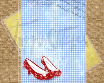 Wizard of Oz Ruby Slipper Themed Planner Cover for Erin Condren, Plum Paper Planner or Happy Planner