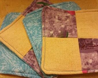 Blooming Purple Cloth Coasters