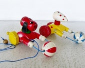 2 Vintage Pull Toys Wooden