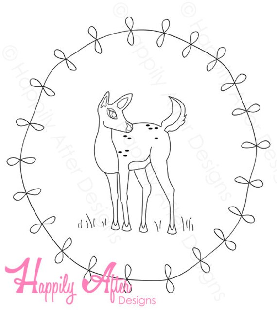 image regarding Free Printable Embroidery Patterns by Hand titled No cost Printable Embroidery Styles Deer Embroidery