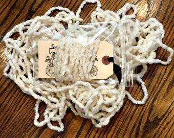 Hand-Dyed 100% Cotton Jumbo Chenille - Vanilla