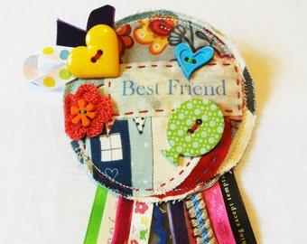 Best Friend party badge.