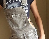 Vintage 90's Overalls Button Side Cuordoroy Silver Brand Jeans