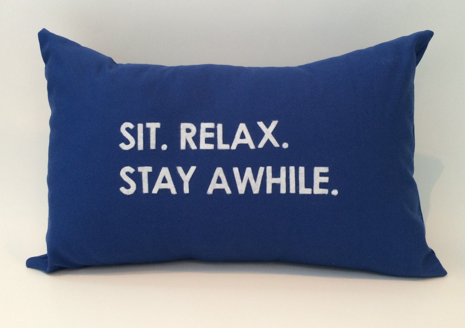 18x12 Sit Relax Stay Awhile Quote Pillow Cover