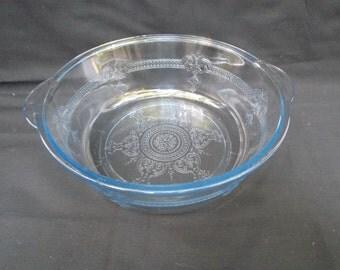 Elegant Vintage Fire King Sapphire Blue Serving Bowl
