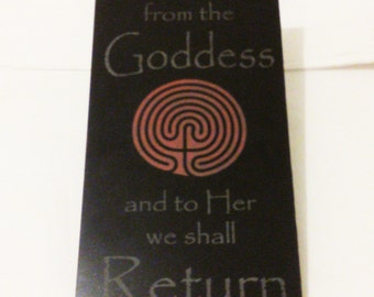 We All Come from the Goddess, etched spiral marble tile