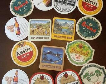 Vintage (15) 1980's German Beer Coasters